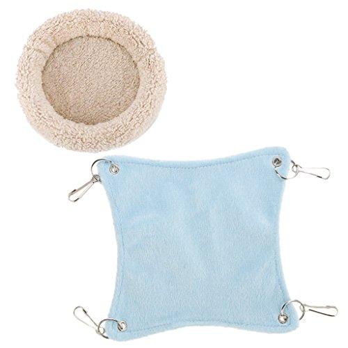 F fityle gabbia del letto del cuscinetto del sedile del materasso del criceto dell'oscillazione della peluche del criceto per il ratto dell'animale domestico d - crema