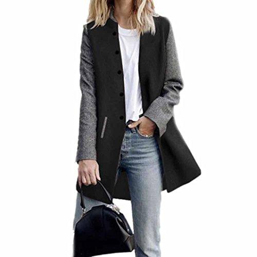 Preisvergleich Produktbild Winter Mantel, Honestyi Damen Casual Langarm Cardigan Jacket Coat Pullover (M,  Schwarz)