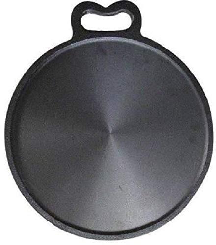Qualy Investo 12 inch Pre-Seasoned Cast Iron dosa Tawa 30cm (12 inch Approx)