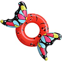DMGF Inflatable Swim Ring Pool Flotador Butterfly Raft Tube Toy Party Loungers Adulto