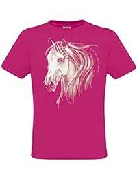 Ethno Designs - Tiermotiv - White Horse Head - Pferde T-Shirt für Mädchen & Frauen - regular fit