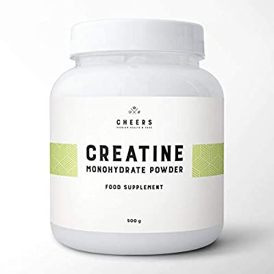 Creapure Creatine Monohydrate - 500g - Pure Creatine Powder Unflavoured Vegan - Micronized Creapure Creatine Supplement by Cheers