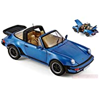 NOREV NV187663 Porsche 911 Turbo Targa 1987 Blue Metallic 1:18 Die Cast Model