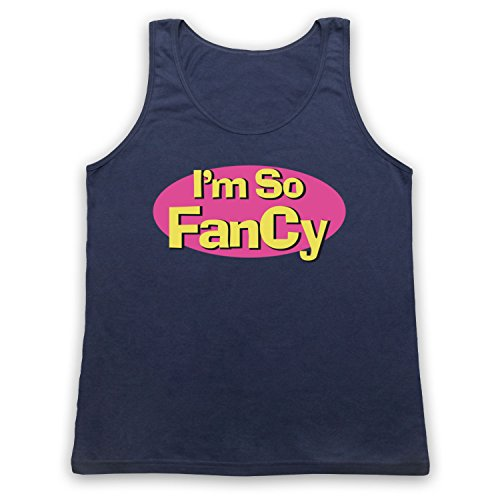 I'm So Fancy Slogan Tank-Top Weste Ultramarinblau