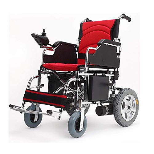 Älterer Behinderter Elektrischer Rollstuhl Intelligenter Ultra Beweglicher Langlebiger Elektrorollstuhl Aluminiumlegierungsmaterial Lithiumbatterie Faltbarer Doppelmotor Hohe Leistung für Behinderte -