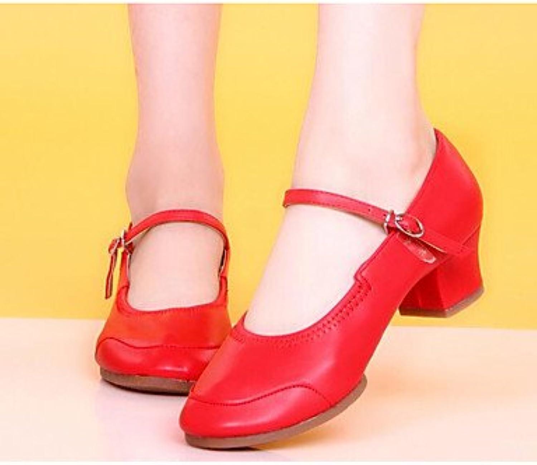 Wuyulunbi@ Donna Moderna tacco reale pratica Chunky Heel Nero Nero Nero Fuchsia rosso ,rosso,Us7.5   Eu38   Uk5.5   CN38 | Facile da usare  44a1c0