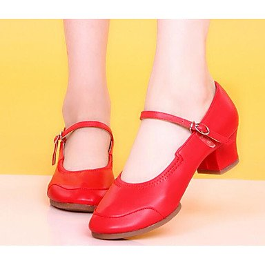 Wuyulunbi@ Donna Moderna tacco reale pratica Chunky Heel Nero Fuchsia Red US8.5 / EU39 / UK6.5 / CN40