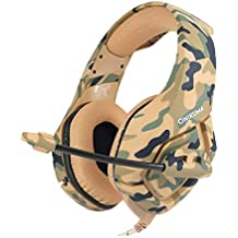 ROSENICE K1-B Gaming Headset Wired Stereo Game Headphones Noise-canceling Gaming Headphone With Mic For PS4 Xbox Laptop Computer Cellphone (Yellow Camo)