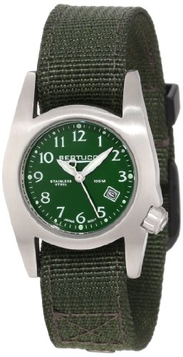 Bertucci m-1s–Orologio da donna–acciaio–Cinturino in nylon verde, quadrante verde–38190