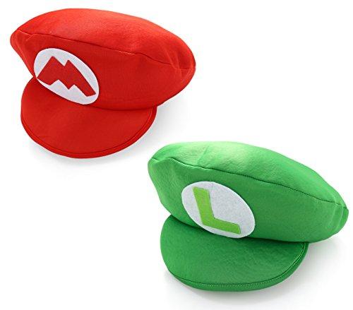 Super Mario Brüder Rote und Grün Luigi Schaumstoff Mütze Karneval (Mario & Luigi Foam Hats)