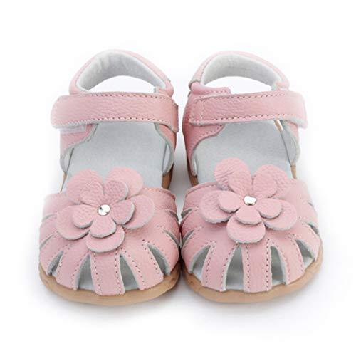 Elsta Mädchen Sommer Echtes Leder Sandale Ballerina Mary Jane Weichen atmungsaktiv Sohlen Baby Leder Lauflernschuhe Flache Schuhe Geschlossen Schuhe