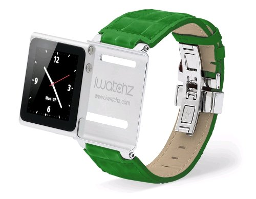 iWatchz Timepiece Collection,Leder Armband für iPod nano 6,Gadget in grün Leder Ipod Armband
