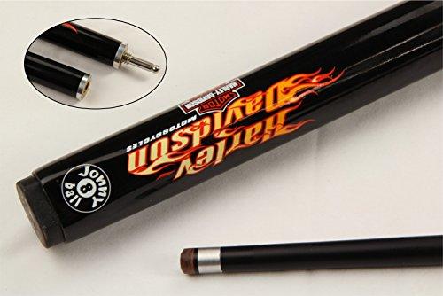 Jonny 8Ball Harley Davidson Snooker- und Billard-Queue, Graphit-Schwarz, 2 Stück