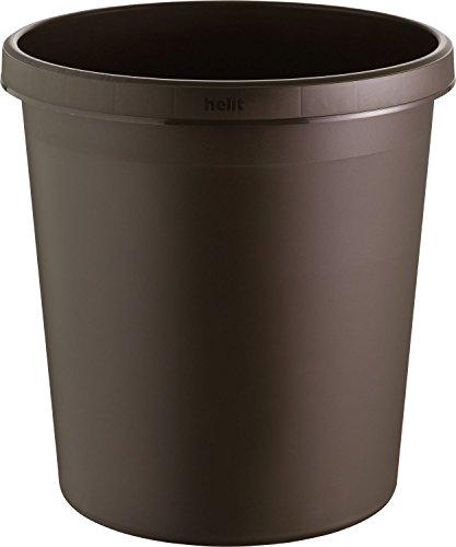Helit H61058 18L Alrededor De plástico Marrón cesto de basura - Cubo de basura 31,5 cm, 335 mm