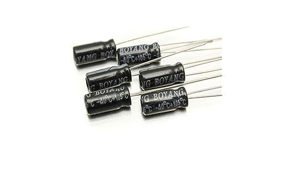 200 Kit D/'Assortiment de Condensateurs Électrolytiques Pcs 0.1Uf-220Uf avec