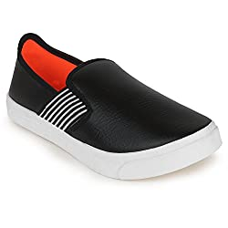Scantia Stylish & Comfortable Casual Loafer ShoeS For Men _Colour _Black _Material _Faux Leather _Slip On _With New Trend