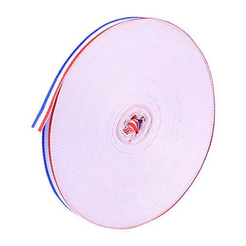 SUPVOX 50 Mt/Rolle 1 cm Streifen Band für Kostüm Tasche Geschenke Verpackung Party Deco Hochzeit Liefert (Rot, Weiß und - Geschenk Tasche Kostüm