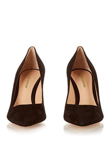 De Patentes Sapatas Edefs Bombas Deslizamento Mola Do Milímetros Em Femininos Calçados 80 Sapatos Apontavam Café De xAxIqwUE1