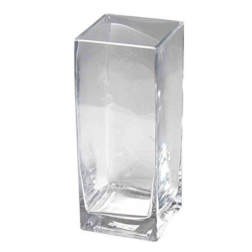 Better & Best Florero de Cristal, Cuadrado, Recto, 11 x 11 x 27 cm, 11