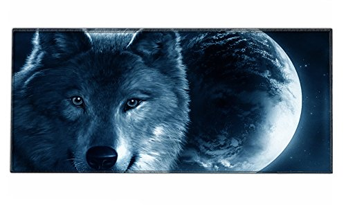 Silent Monsters 1003002220 - Alfombrilla de ratón para gaming, XXL (900 x 400 x 3 mm), diseño Wolf, multicolor
