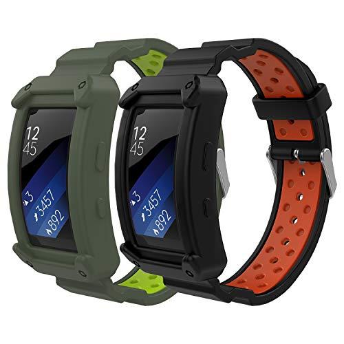 MoKo Compatibile con Gear Fit2 / Gear Fit2 PRO Cinturino, [2-Pack] Braccialetto Morbido Sportivo di Ricambio in Silicone,...