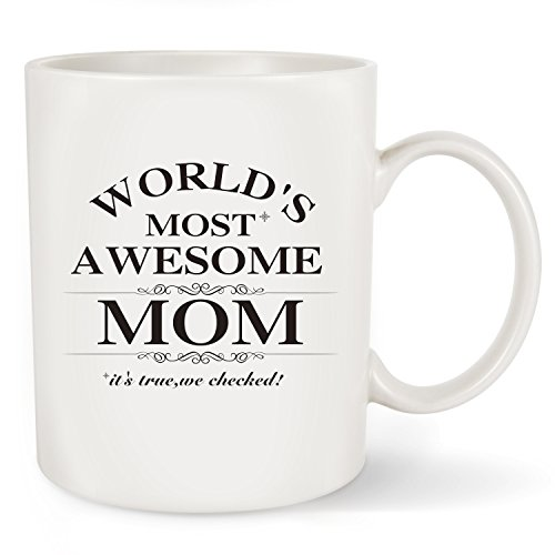 Mother 's Day Geschenk Best Mom Kaffee Tasse-World 's Most Awesome Mom-einzigartigen Geburtstag oder Weihnachten Geschenke Idee für Frauen Ihrem neuen Mom Mama Frau Kaffee Becher Tee Tasse