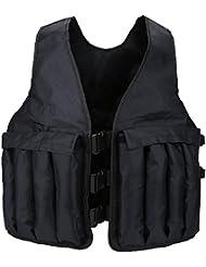 Gilet Lesté 20KG / 44LB Veste Lourd de Sable Réglable Vêtement Lesté Invisible Hommes Femmes pour Poids Entrainement Musculation Exercice Boxe