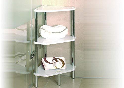 HAKU Möbel Regal, Chrom, Mehrfarbig, 46 x 32 x 77 cm