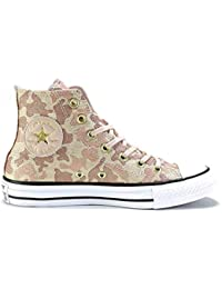 Converse Chuck Taylor All Star Hi Top Particle Beige Cameo Brown Sneakers  Womens 10 45d7999e8