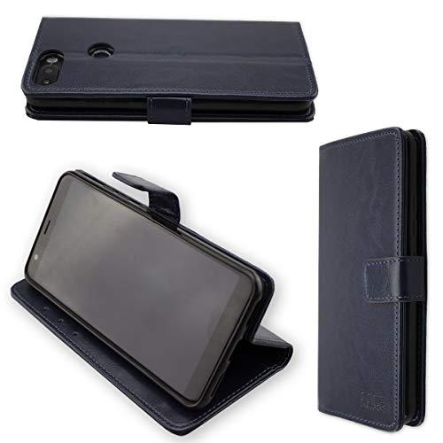 caseroxx Hülle/Tasche Bookstyle-Case Gigaset GS370 / GS370 Plus Handy-Tasche, Wallet-Case Klapptasche in blau