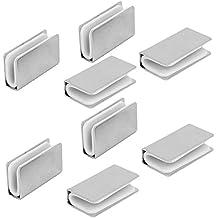 sourcingmap/® 4Stk 5mm Dicke Metall Rechteck Glas Regal Klemme Halter Halterung St/ütze de