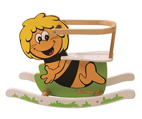 roba Schaukelbiene 'Biene Maja', Schaukeltier lackiert, Schaukelsitz für Kleinkinder, Schaukelspielzeug ab 18 Monate