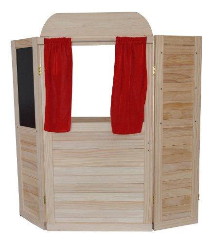 KinderkUche Holz Von Beiden Seiten Bespielbar ~ Kaufladen Puppentheater  Preisvergleiche, Erfahrungsberichte und Kauf