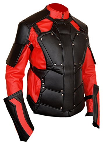 F&H Boy's Will Smith Deadshot Suicide Squad Removable Shield Jacket