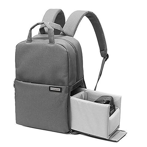 Agemore multifonction DSLR SLR Camera Sac de voyage extérieur Tablette Sac pour ordinateur portable étanche durable Sac à dos pour appareil photo Sony Canon Nikon Olympus SLR/DSLR, objectif et