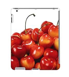 Fuson 3D Printed Cherry wallpaper Designer Back Case Cover for Apple iPad 3 - D789