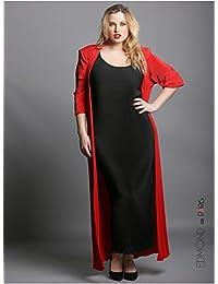 Edmond Boublil - Vêtement Femme Grande Taille Gilet Plisso Long Rouge