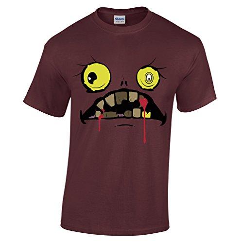 iges Gesicht blutig Fanged Ghoul Monster Spuk Herren T-Shirt (Scary Halloween-städte)