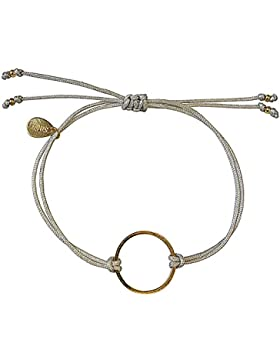 Smilla Brav Damen-Armband GOOD KARMA - hellgrau / goldplattiert - Kreis Eternity Karma-Armband DS20
