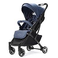 Allis Lightweight Stroller Baby Pushchair Buggy Travel Pram Plume - Denim