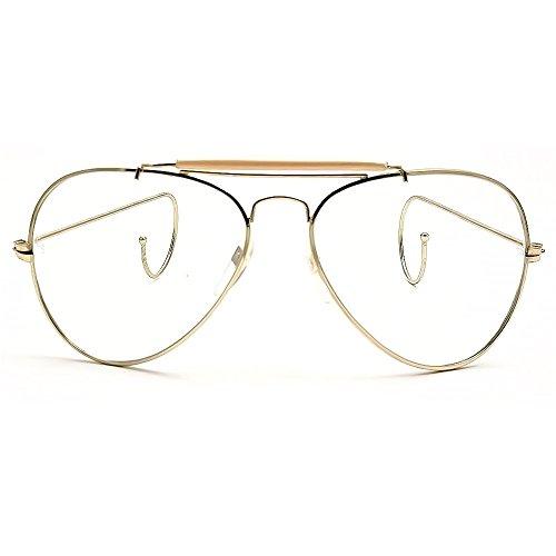 Neutral los vasos KISS®-mod. Montura de amante de la naturaleza-gafas de aviador VINTAGE hombre unisex mujer - RIZO / Gold