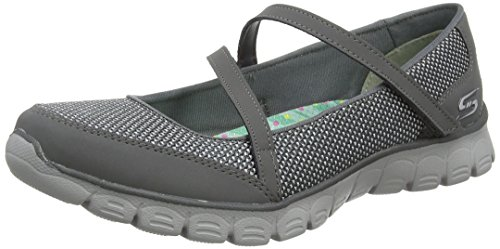 Skechers Ez Flex 3.0-Stopover, Mary Jane Femme Grey (Ccl)