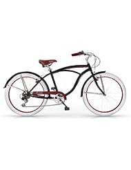 MBM HONOLULU MAN HOMBRE CRUISER CUSTOM 26'' BICYCLE BIKE BICICLETA 6S NEGRO