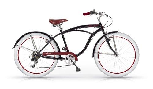 MBM HONOLULU MAN HOMBRE CRUISER CUSTOM 26 BICYCLE BIKE BICICLETA 6S NEGRO