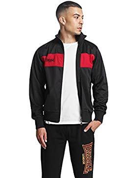 Lonsdale Alnwick Men Tricot Jacket Black//Red negro//rojo chaqueta