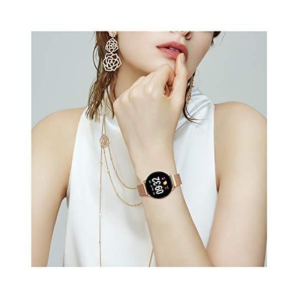 GOKOO Smartwatch Fashion para Hombre Mujer Impermeable Reloj Inteligente Monitores de Actividad Fitness Tracker con… 10