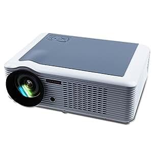DBPOWER LED 66 Vidéoprojecteur Télécommande HDMI USB YPBPR VGA 2000 Lumens 140W, avec Le câble VGA AV