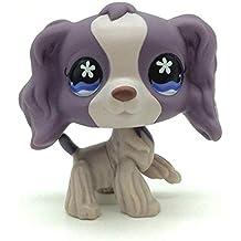 Mamum Rare Littlest Pet Shop Cream Tan Brown Pelo Corto Gato Corazón Cara Gato (Púrpura