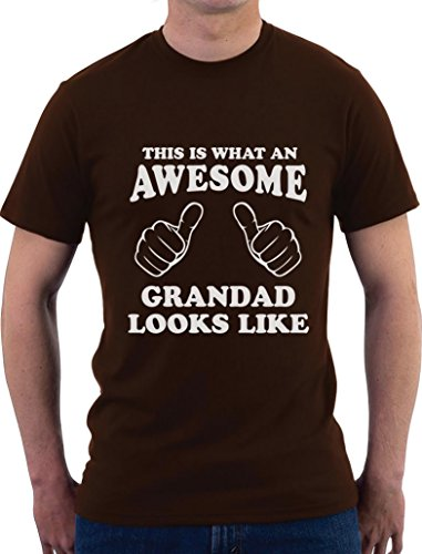This is What an Awesome Grandad Looks Like - Geschenk T-Shirt T-Shirt Braun