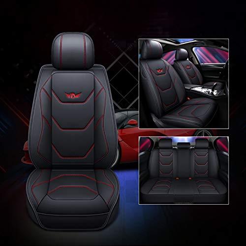 JIANPING Coprisedile per Auto Quattro Stagioni Compatibile con airbag Protezione per Il Sedile Impermeabile Anteriore e Posteriore 5 posti Serie Completa di Pelle Universale Copri Sedile per Auto